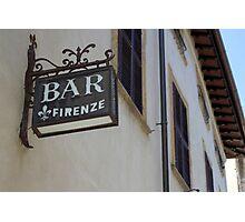 Italian Bar Photographic Print