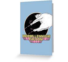 Meowllennium Falcon Greeting Card