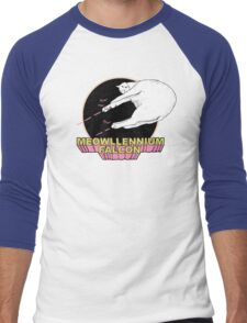 Meowllennium Falcon Men's Baseball ¾ T-Shirt