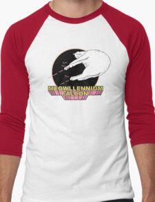 Meowllennium Falcon Men's Baseball ¾ T-Shirt