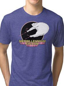 Meowllennium Falcon Tri-blend T-Shirt