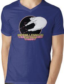 Meowllennium Falcon Mens V-Neck T-Shirt