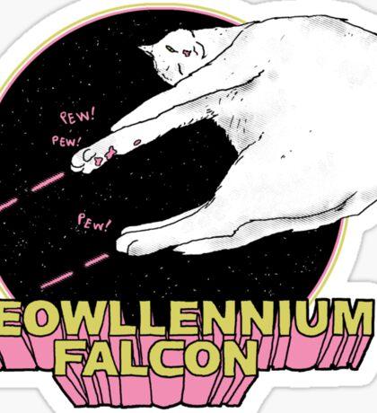 Meowllennium Falcon Sticker