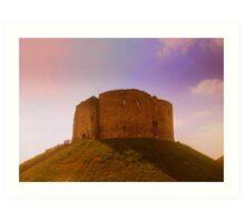 Clifford's Tower, York Castle Keep, England Art Print