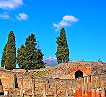 Pompeii And Vesuvius by Al Bourassa