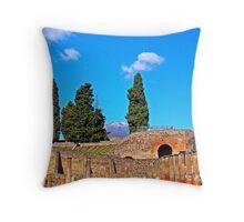 Pompeii And Vesuvius Throw Pillow