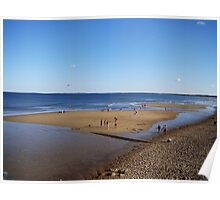 Low tide @ Old Orchard beach Poster
