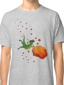YOLO Dinosaur Lassoes an Asteroid Classic T-Shirt