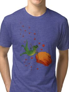 YOLO Dinosaur Lassoes an Asteroid Tri-blend T-Shirt