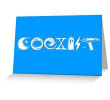 COEXIST - Let the Worlds of Nerdom Unite! Greeting Card
