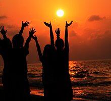 Dawn sun worship by Philip Alexander