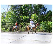 Panamanian Horsemen Poster