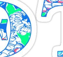 ThetaT - Blue Flowers Sticker