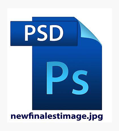 hilarious image file name icon  Photographic Print