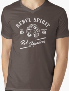 Red Squadron Mens V-Neck T-Shirt