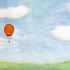 Orange Balloon and a Meadow by Tim Gorichanaz