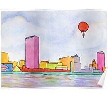 Balloon and Milwaukee Poster