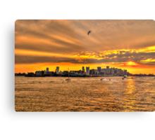 Golden Rays, Boston, MA Metal Print
