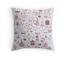 Teapots #1 Throw Pillow