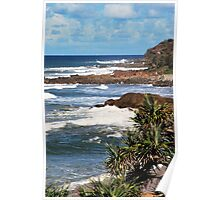 Point Arkwright, Sunshine coast Queensland Poster