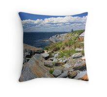 Around the Rugged Rocks Throw Pillow
