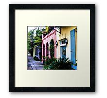 Summertime on Rainbow Row Framed Print