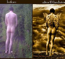 'before and after' Precipice by Heather King