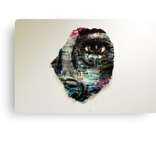Coloured and Plastered Canvas Print