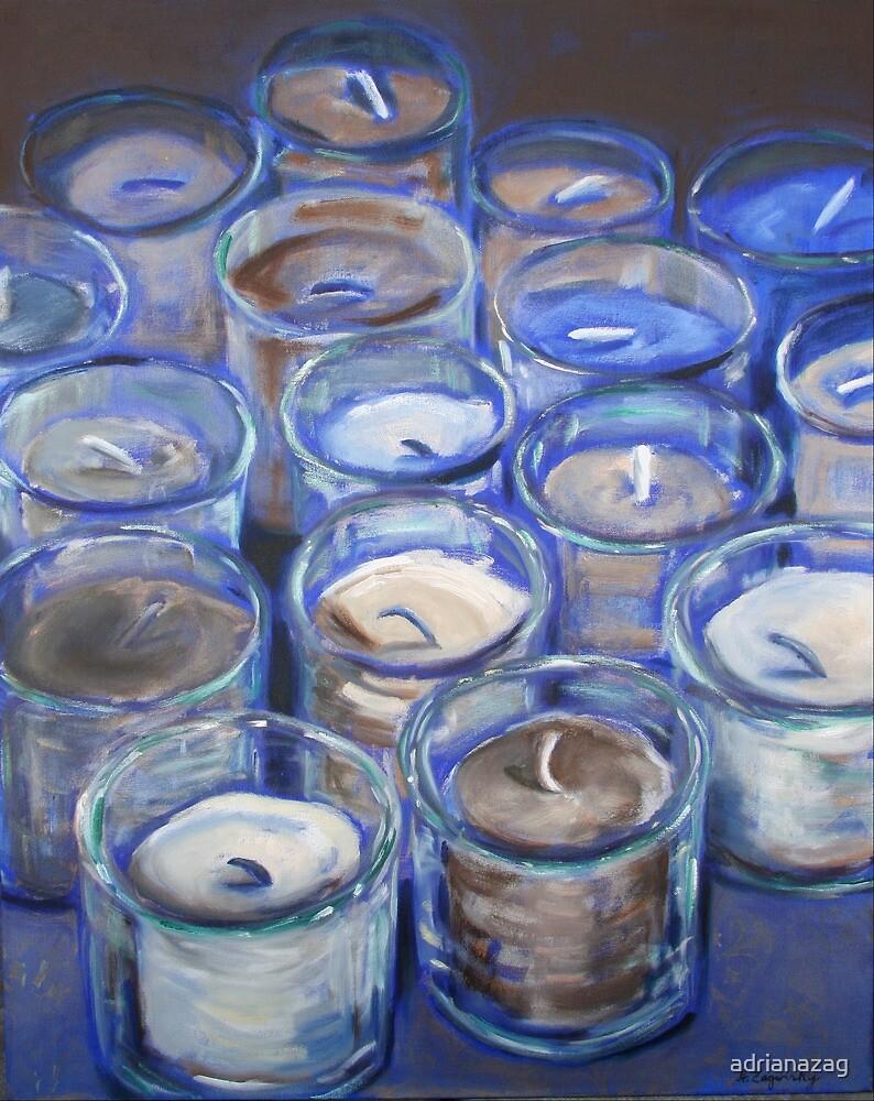 Blue Votives  by adrianazag
