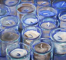 Blue Votives  by adrianazag