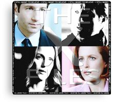 i still want to believe - the x-files Canvas Print