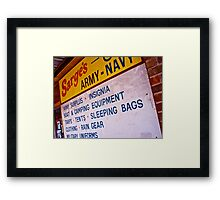 Texas A&M Army Navy Store Framed Print