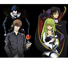 death note code geass light ryuk cc c2 lelouch anime manga shirt Photographic Print