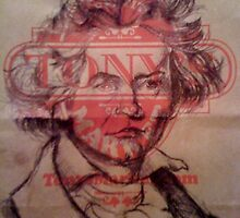 beethoven (on a tony's paper bag) by brandonmichael