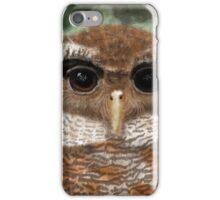 Malay Eagle Owl Portrait iPhone Case/Skin