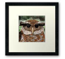 Malay Eagle Owl Portrait Framed Print