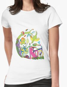 Garden of Earthly Bikes Womens Fitted T-Shirt