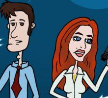 ZEEK ... The Martian Geek sneaks past Mulder to meet Scully Sticker