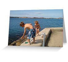 Fishing for crabs..., Hunnebostrand, Sweden Greeting Card