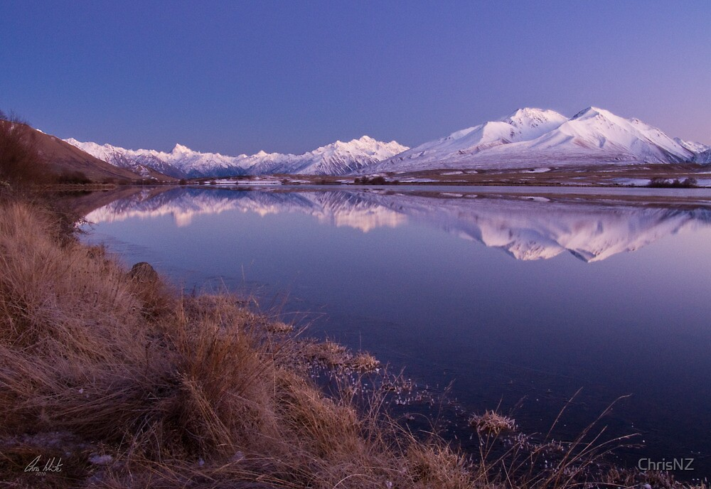 Lake Clearwater & Mt Potts by ChrisNZ
