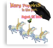 Mary Poppins In The Park Canvas Print