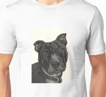 Staffordshire Bull Terrier Pen Drawing Unisex T-Shirt