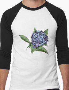 Hydrangea Blue Men's Baseball ¾ T-Shirt