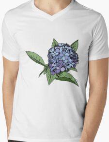 Hydrangea Blue Mens V-Neck T-Shirt