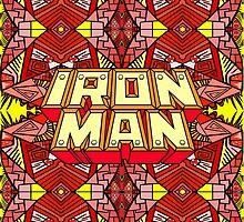 Iron Man - Fat Art - Comic Book - Pattern by Shawn Ballard