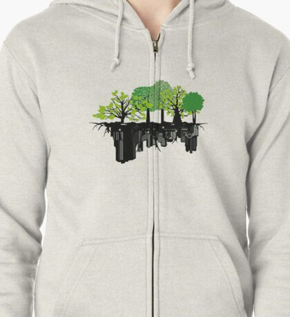 Ecology problem Zipped Hoodie