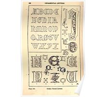 A Handbook Of Ornament With Three Hundred Plates Franz Sales Meyer 1896 0548 Ornamental Letters Gothic Uncial Poster