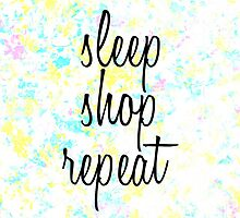 """""""Sleep, Shop, Repeat"""" Watercolors by Blkstrawberry"""