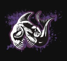 Feisty Fish Purple and Black  One Piece - Short Sleeve