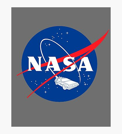NASA Back 2 Future Photographic Print